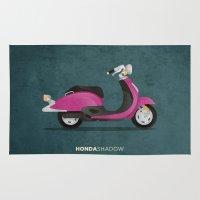 honda Area & Throw Rugs featuring Honda Shadow by Floris Voorveld