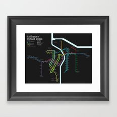 Rail Transit of Portland, Oregon Framed Art Print