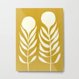 Flower 013-yellow Metal Print