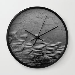 Mud Textures On The Trail Wall Clock
