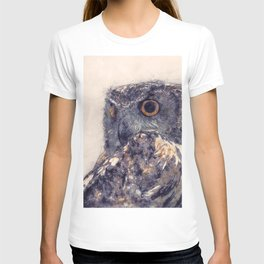 Great Horned Owl Painting - Nature Art Prints T-shirt