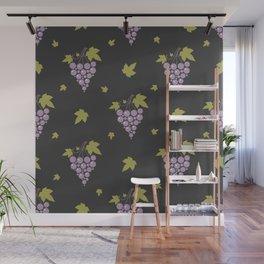Grape Pattern Wall Mural