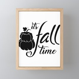 Its Fall Time Framed Mini Art Print