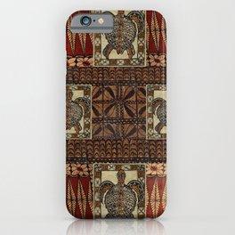 Hawaiian Petroglyph Tapa Cloth iPhone Case
