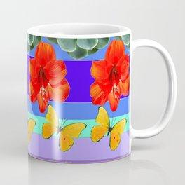 ABSTRACTED BOTANICAL ART PATTERN Coffee Mug