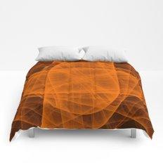 Eternal Rounded Cross in Orange Brown Comforters
