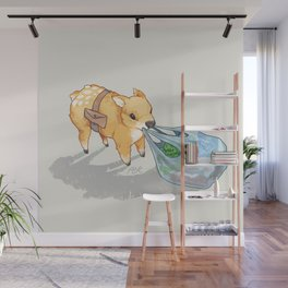 small independent deer — no text Wall Mural