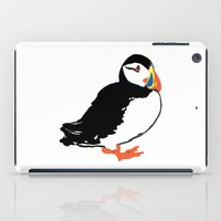 puffin iPad Cases featuring Puffin by San F. Yezerskiy