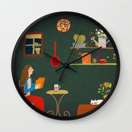 No place like home- Illustration Wall Clock