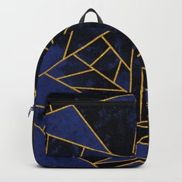 Blue and Gold Geometric House Colours Backpack