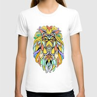 metallic T-shirts featuring Metallic Lion by J&C Creations