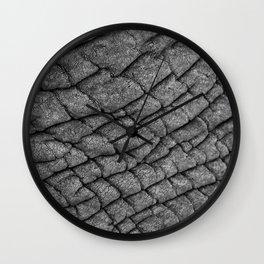 Cracked Skin Wall Clock