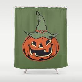 Vintage Jack O Lantern Pumpkin Shower Curtain