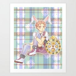 Yaku Morinosuke as the White Rabbit Art Print