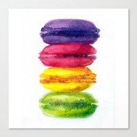 macaroons Canvas Prints featuring Macaroons by AnaStasiaartdesign