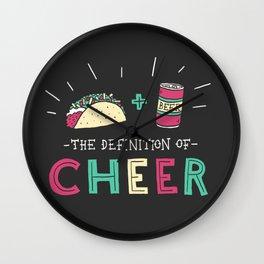 Tacos and Beer Wall Clock
