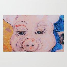 Blue Ribbon Pig Rug