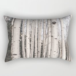 Tall Birch Forest Rectangular Pillow