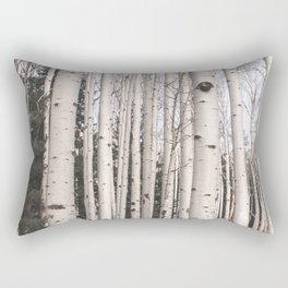 Tall Birch Forest Rectangular Pillow