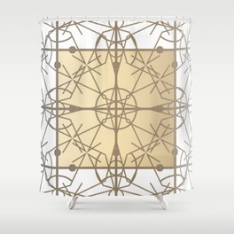 Chic Deco Gilded Filigree Shower Curtain