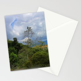 Moody Sky Over Green Hill - La Tuna Stationery Cards