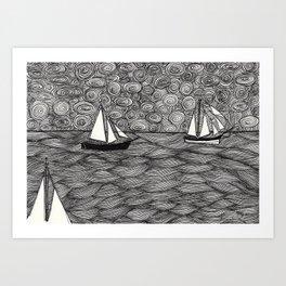 Sunny sailing on the Baltic Sea Art Print