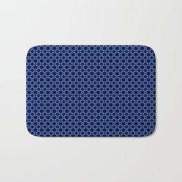Blue Lattice Bath Mat