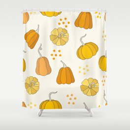 Orange and Yellow Pumpkins Shower Curtain