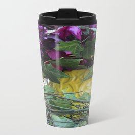 Yellow Vase Metal Travel Mug