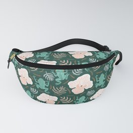 Tree Frog and Fern Floral Fanny Pack