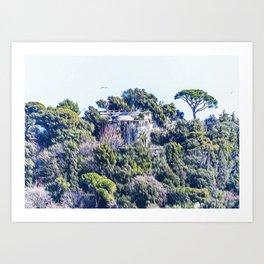 Mont Boron in Nice Art Print