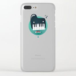 Piano Monster Clear iPhone Case