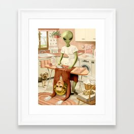 Laundry Day Framed Art Print