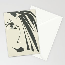 Abstract face . Stationery Cards