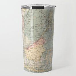Vintage Map of Indonesia and The Philippine Ports (1905) Travel Mug