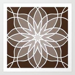 Shades of Brown   Geometric Pattern Art Print