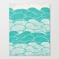 jazzberry Canvas Prints featuring The Calm and Stormy Seas by Pom Graphic Design