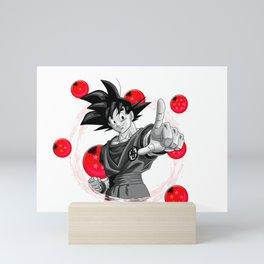 Goku red version dragon ball super balls Mini Art Print