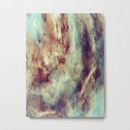 Multi-colored marble texture print.  Metal Print