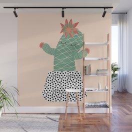 Mrs Succulent Wall Mural