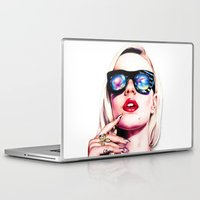 iggy azalea Laptop & iPad Skins featuring Iggy Azalea Portrait by Tiffany Taimoorazy