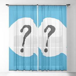 ? B Sheer Curtain