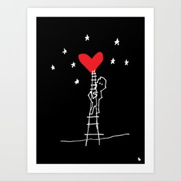 Way to your heart. Art Print