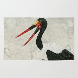 Saddle-billed Stork Quinn 2 Rug