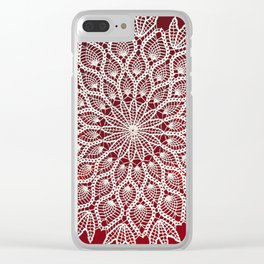 Christmas Lace Clear iPhone Case
