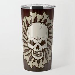 Angry skull Travel Mug