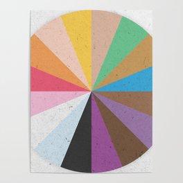 Rainbow Wheel of Inclusivity Poster
