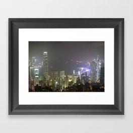 Hong Kong Night View 2014 Framed Art Print