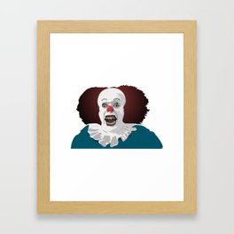 Cool party Clown Face Framed Art Print