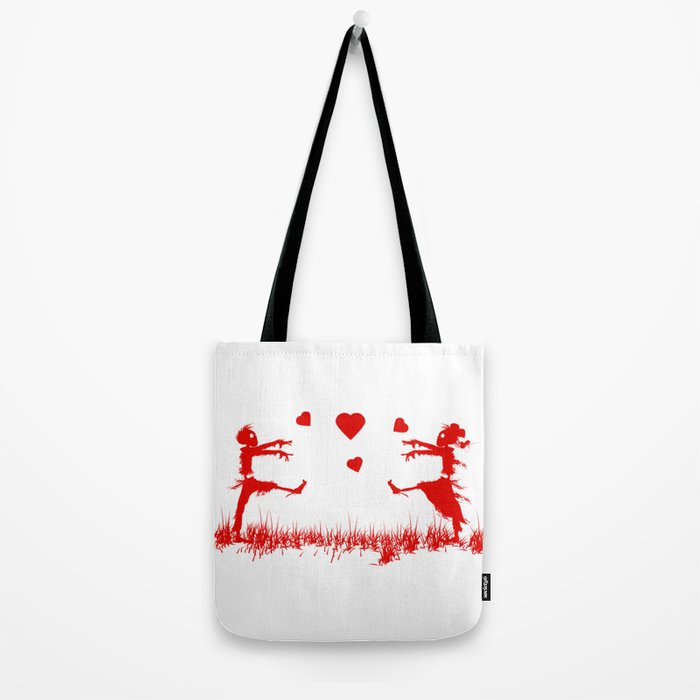 Zombies in Love Red Tote Bag